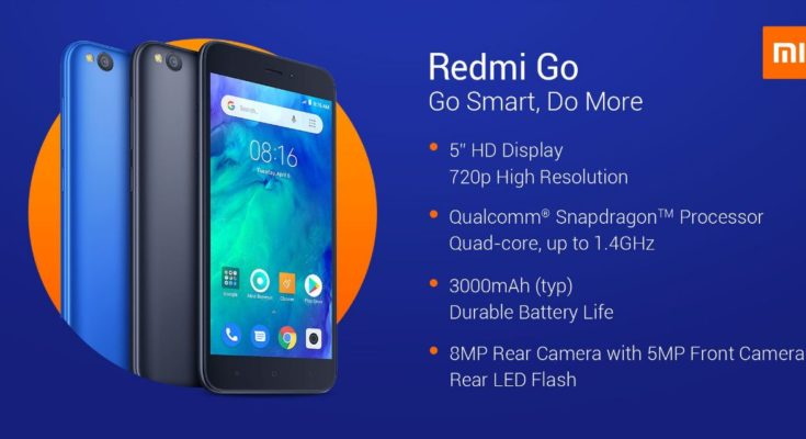 Redmi Go includes an 8-megapixel rear camera with LED flash