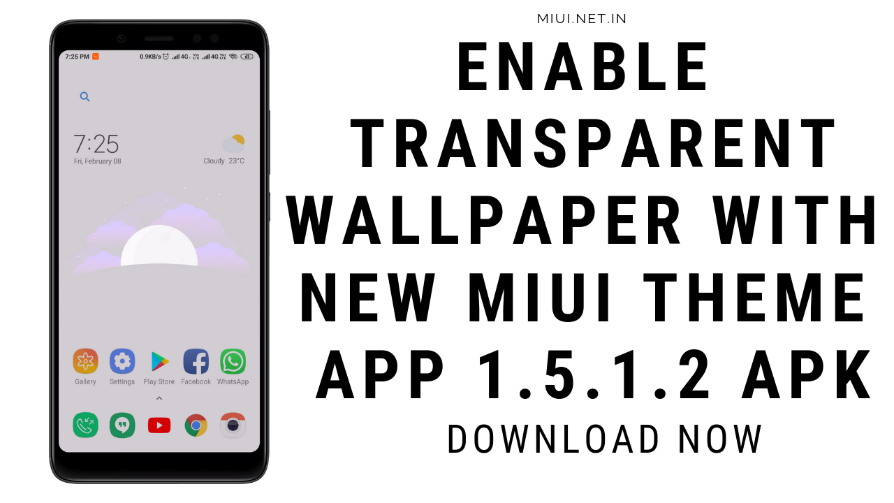 Enable Transparent Wallpaper with New MIUI Theme App 1 5 1 2 APK
